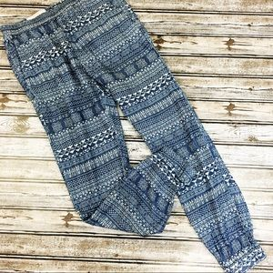 8b97fab7 Zara Pants | Man Denim Couture Slim Fit Joggers Aztec | Poshmark